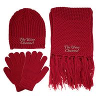 993461804-814 - Knitted Winter Set w/ Beanie, Gloves & Scarf - thumbnail