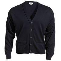 162770278-822 - Edwards Unisex Acrylic Button V-Neck Cardigan Sweater w/ 2 Pockets - thumbnail