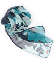 544493235-822 - Edwards Silk Chiffon Splatter Floral Scarf - thumbnail