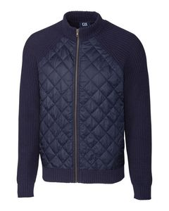 146361364-106 - Walter Full Zip Quilted Sweater Jacket Big & Tall - thumbnail