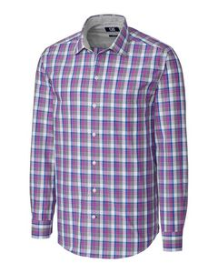 166361205-106 - L/S Non-Iron Zachary Plaid Big & Tall - thumbnail
