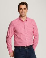 385706656-106 - Men's Cutter & Buck® Stretch Gingham Shirt (Big & Tall) - thumbnail