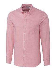394934827-106 - Men's Cutter & Buck® Tailored Fit Tattersall Dress Shirt - thumbnail