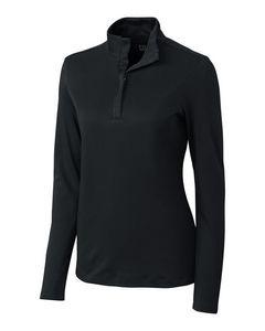 504493854-106 - Ladies' Cutter & Buck® Belfair Pima Half-Zip Shirt - thumbnail