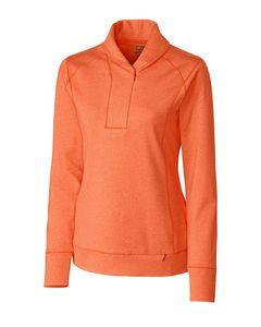 545260787-106 - Ladies' Cutter & Buck® Shoreline Half-Zip Shirt - thumbnail