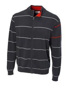 776129114-106 - Newcastle Striped Full Zip Cardigan - thumbnail