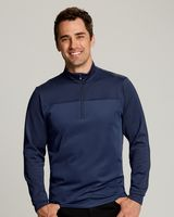 925705942-106 - Men's Cutter & Buck® Traverse Stripe Half-Zip Shirt - thumbnail