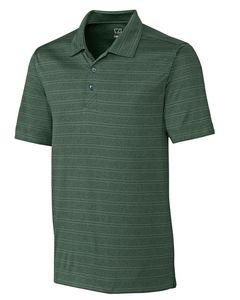 935260817-106 - Men's Cutter & Buck® Interbay Melange Stripe Polo Shirt (Big & Tall) - thumbnail