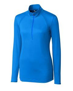 965260822-106 - Ladies' Cutter & Buck® Williams Half-Zip Shirt - thumbnail