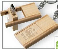 153299161-142 - Kayu Wood USB Flash Drive w/ Keychain (8 GB) - thumbnail