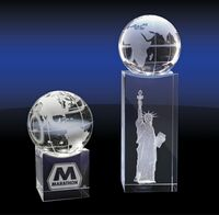 173149616-142 - Crystal Globe on Base - Grande - thumbnail