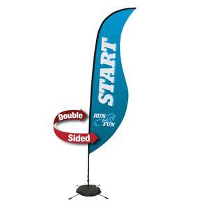 134032314-108 - 13' Premium Sabre Sail Sign, 2-Sided, Scissor Base - thumbnail
