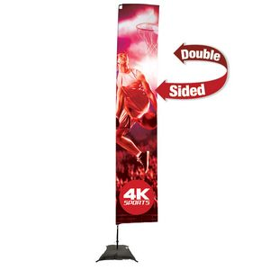 335009646-108 - 14.5' Streamline Rectangle Sail Sign, 2-Sided, Scissor Base - thumbnail