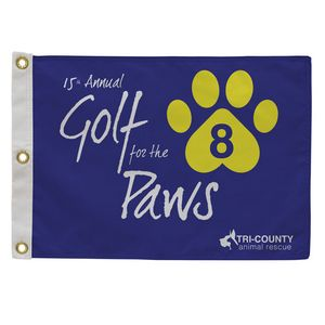 346058125-108 - Golf Flag with Canvas Heading (Single-Sided) - thumbnail