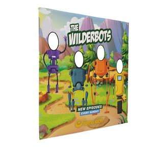355886039-108 - 8.5' FrameWorx Quad Face Cutout Banner - thumbnail