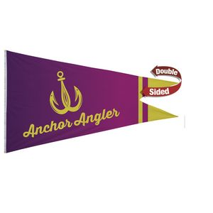 396058175-108 - Nylon Burgee Flag (Double-Sided) - 6' x 10' - thumbnail