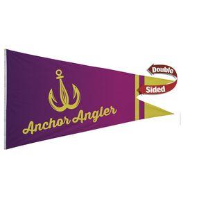 396058175-108 - 6' x 10' Nylon Burgee Flag Double-Sided  - thumbnail