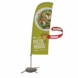 396185494-108 - 7.5' Value Blade Sail Sign Kit (Double-Sided w/ Cross Base) - thumbnail