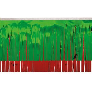 """396197671-108 - Victory Corps Metallic Green & Red Fringe (15"""") - thumbnail"""