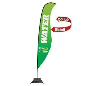 564032325-108 - 17' Premium Sabre Sail Sign, 2-Sided, Scissor Base - thumbnail