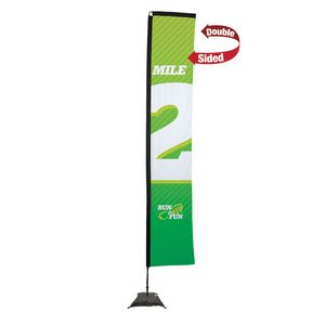 593728302-108 - 14.5' Premium Rectangle Sail Sign, 2-Sided, Scissor Base - thumbnail