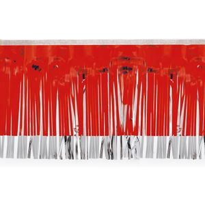 """596197674-108 - Victory Corps Red & Silver Fringe (15"""") - thumbnail"""