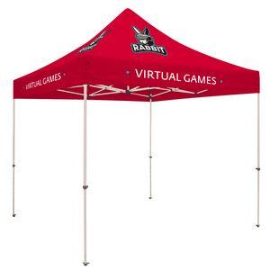 713728340-108 - Standard 10' Tent Kit (Full-Color Imprint, 8 Locations) - thumbnail