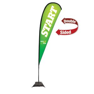 773728266-108 - 15' Premium Teardrop Sail Sign, 2-Sided, Scissor Base - thumbnail