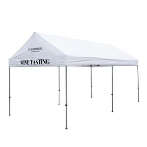 906185562-108 - 10' x 20' Premium Gable Tent Kit - 2 Location Imprint - thumbnail
