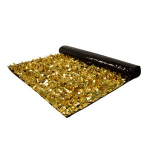 946197125-108 - Embossed Gold and Standard Black Floral Sheeting (10 Yards) - thumbnail