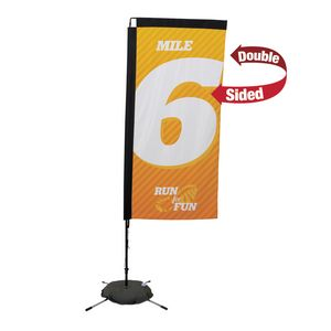 963728299-108 - 7' Premium Rectangle Sail Sign, 2-Sided, Scissor Base - thumbnail