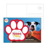 585956936-134 - Post Card With Full-Color Paw Print Luggage Tag - thumbnail