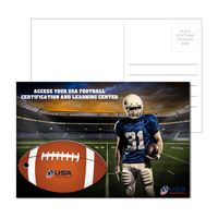 985956932-134 - Post Card With Full-Color Football Luggage Tag - thumbnail
