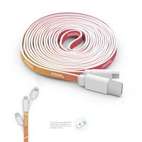 185901683-107 - Branded Micro USB Cable (10ft) with Triple Tip - thumbnail