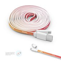 785901682-107 - Branded Micro USB Cable (10ft) with Apple TwinTip - thumbnail