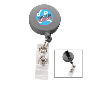 566524859-817 - the Essentials Retractable Badge Holder - Grey - thumbnail