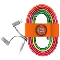 786178199-817 - Toddy Tie and Cable w/ Type C and Mfi Adapter - Orange - thumbnail