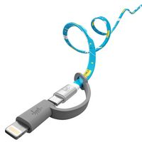 935147557-817 - Micro-USB to USB Charge and Sync Cable with Apple MFi Certified Lightning Adapter - thumbnail